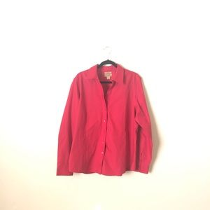 Gold Label Investments Red Button Down Blouse